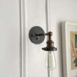 One of the evil sconces. Notice the rotary switch below the arm.