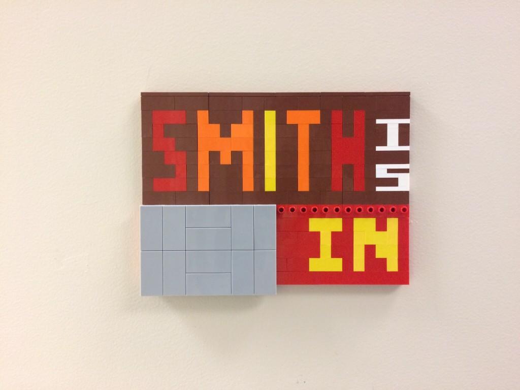 Finished LEGO sign